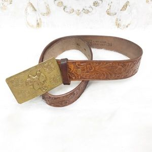 Vintage handmade Penney's Leather belt 30